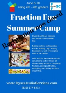 Fraction Fun Summer Camp closed
